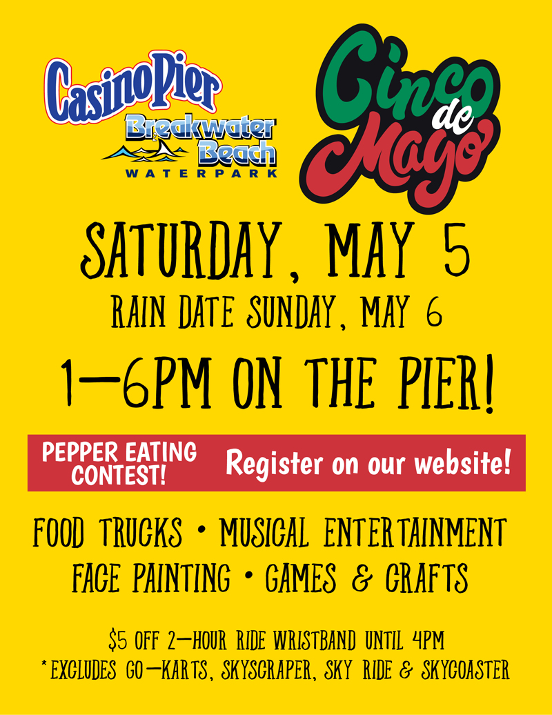 cinco de mayo flyer seaside heights new jersey official tourism